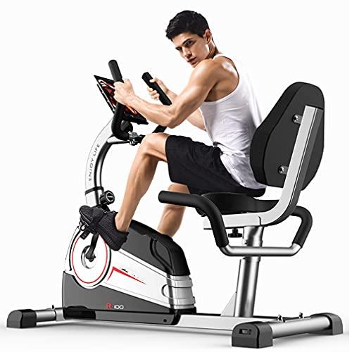 CGBF-Bicicleta de Ejercicio de Resistencia Magnética Bicicleta de Ciclismo Estática,Bicicleta Reclinada Fitness con Soporte para Almohadilla para Entrenamiento Cardiovascular en Interiores
