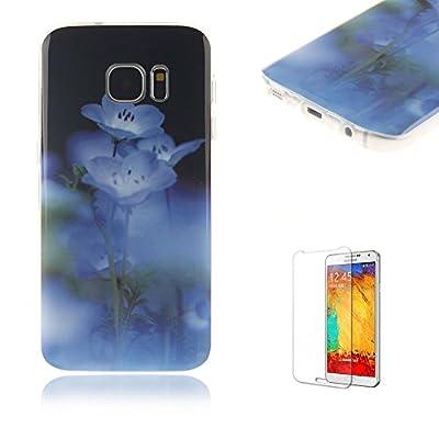 Para Samsung Galaxy S7caso [con protector de pantalla], funyye colorida pintura patrón diseño exclusivo de goma carcasa de TPU Flexible suave piel protectora bumper case ultra Samsung Galaxy S7