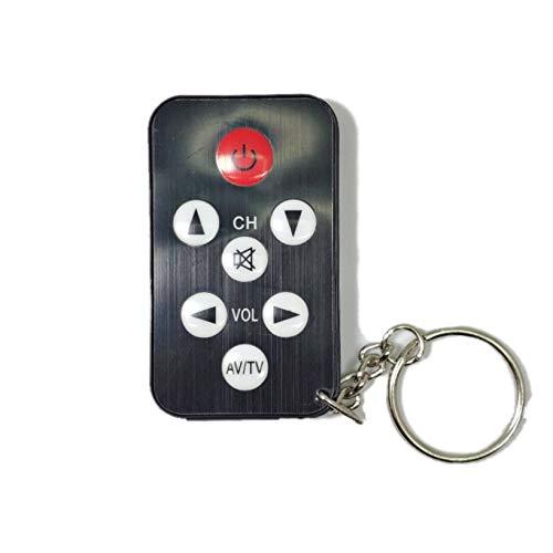 SUKRAGRAHA 7 Buttons Mini Universal TV Remote Control Keychain Black