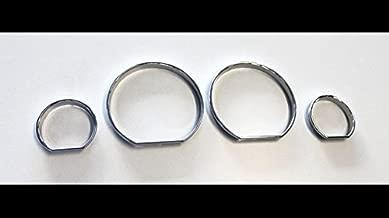 OriginalEuro Euro Chrome Gauge Dash Dial Rings Bezel Trim Speedometer AC M-Tech for BMW E46 M M3