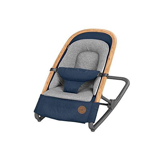 Maxi-Cosi Kori Hamaca bebé ergonómica de balanceo natural, plegable y portátil, color essential blue