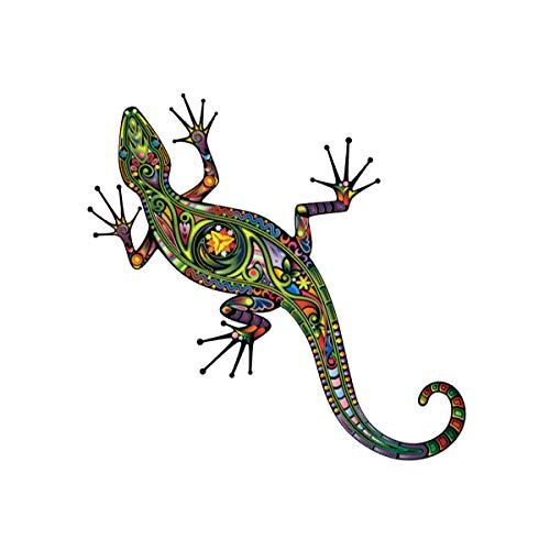 Toyvian Metall Gecko Wandkunst Dekor Tattoo Wandaufkleber DIY Gecko Aufkleber Abnehmbare Aufkleber Wohnzimmer Dekor DIY Hause Wandtattoos Aufkleber (14 cm * 14 cm Reflektierende Folie)