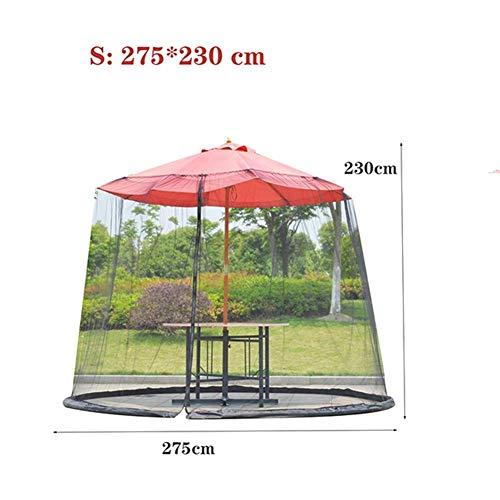 DSHUJC Tube d'eau de Filet de Polyester de Couverture de Moustique de Jardin à la Base pour Tenir en Place Aide à protéger Contre Les moustiques pour Les parasols de belvédère