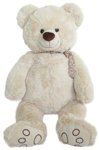 Wagner 9016 - XXL Plüschbär Teddy Bär - 100 cm groß - Creme-Weiss - Teddybär Kuschelbär