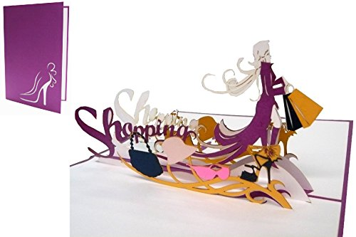 POP UP 3D Karte Grußkarten Shopping Gutschein, Einkaufsgutschein (Nr.238)