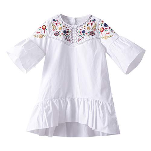 Vestido para Niña Fiesta Primavera Verano 2019,PAOLIAN Vestido Niña Princesa Corto 2-8...