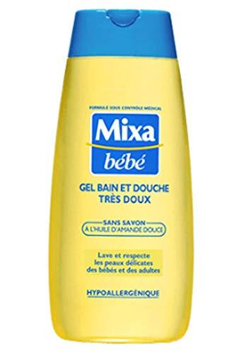 Mixa Bébé Bade- und Duschgel Tras zart Soap Free at Lâ € ™ Dâ € ™ Oil Mandel 200ml (4 Stück)
