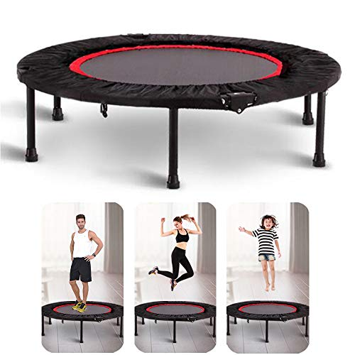 HUOFEIKE Indoor Mini Exercise Trampoline,Folding Rebounder for Adults Kids,Best Home Gym Fun Easy Rebounding Fitness Workouts to Help You Lose Weight