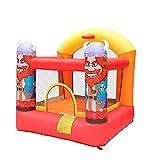 L.TSN Kinder Bounce Castle House Aufblasbarer Trampolinkorb mit Inflator,...