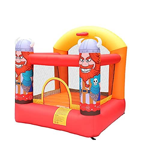 YQGOO Canasta de trampolín Inflable de casa de Castillo de Rebote para niños con inflador, diversión de Actividades de jardín para Juegos al Aire Libre, 210X210X210cm,