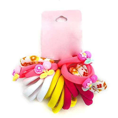 Weiqiao® Élastique de Cheveux en Tissu Rosé Motif de Coeur Headband Flexible Décoration de Tête pour Femme Fille