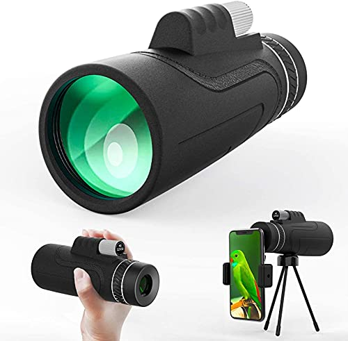 Monoculares para adultos Telescopio monocular de alta potencia 12x50 con trípode Soporte para teléfono inteligente Los mejores regalos para observación de aves, acampada, viajes, turismo, deportes y
