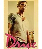 HUYUEXIN Leinwand Poster Drive Ryan Gosling Filmplakat