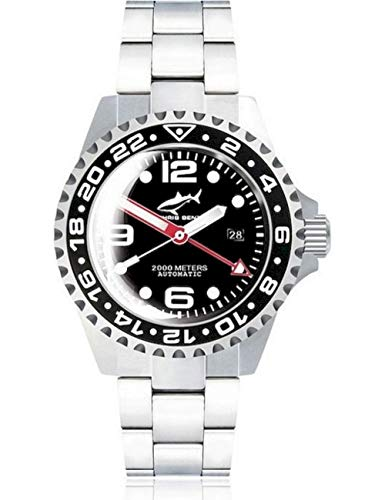 Chris Benz Deep 2000m Automatic GMT Bubble CB-2000A-D2-MB Orologio...