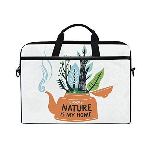 Laptop Sleeve Case,Laptop Bag,Environmental Protect Plant Nature Water Briefcase Messenger Notebook Computer Bag with Shoulder Strap Handle,28.5×38 CM/14 Inch