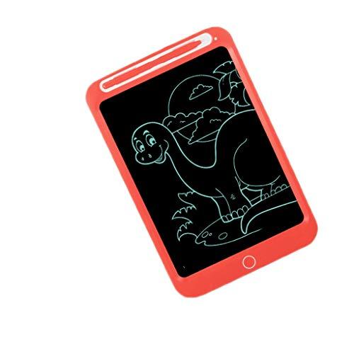 HMEI Tabla de dibujo creativa para niños, no magnética, sin polvo, pantalla LCD de dibujo a mano, para dibujar, escribir, regalo de graffiti (color 10 naranja monocromática)