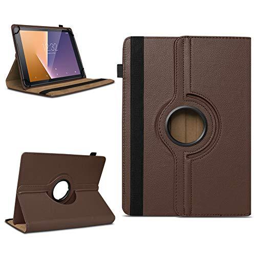 Tasche für Vodafone Tab Prime 7 Tablet Hülle Schutzhülle Hülle 360° Drehbar Cover, Farben:Braun