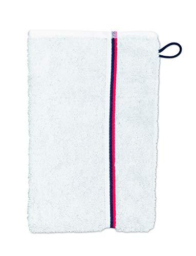 möve Athleisure Gant de Toilette, Snow/Grey, 25 x 17 cm