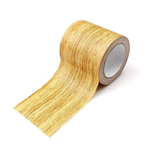 Hrroes Selbstklebende Folie Holzkontaktpapier Für Böden Tische Wände Stühle (Beige)(5.7cmx4.57m)