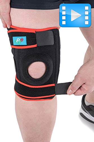 FitFitaly XXL Kniebandage für Patella, Meniskus und Bänder - Verstellbarer Knieschutz für Sport (XL - ExtraLarge)