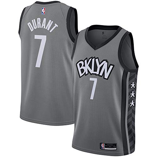 Outerstuff Kevin Durant Brooklyn Nets #7 Gray Youth 8-20 City Edition Swingman Jersey (18-20)