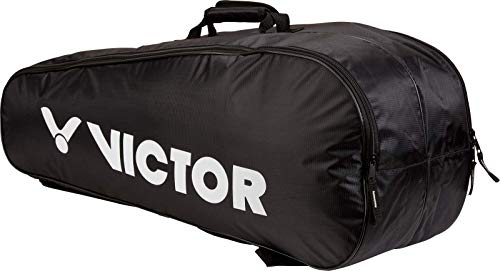 Victor 9150 Badminton/Squash Doublethermobag (Black), Size for 6 Rackets, 2...