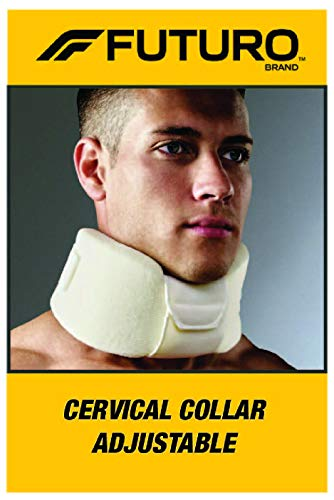 Futuro - 70011000828 FUTURO Cervical Collar, Ideal for Pinched Nerves or Tightness in Neck, One Size white