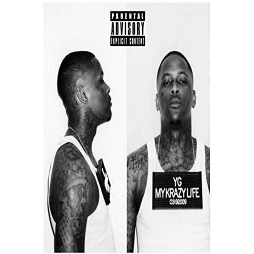 YG My Krazy Life portada del álbum Hip Hop Rap carteles e impresiones arte cartel lienzo pintura decoración del hogar impresión en lienzo-50x75 cm sin marco