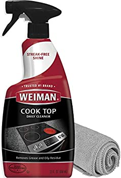 Weiman Cook Top Daily Cleaner - 22 Ounce - Microfiber Cloth for Glass Ceramic and Induction Stove Top