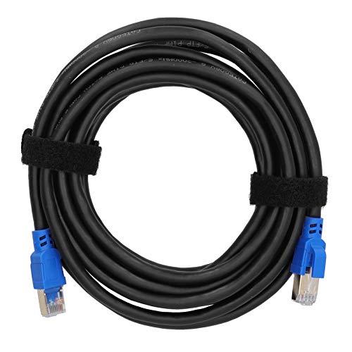 gostcai Cable Ethernet Gigabit CAT8, Cable Ethernet de 40 Gbps 2000 MHz, Conector RJ45 Chapado en Oro, para adaptadores de Red/concentradores/enrutadores/DSL/módems de Cable/PoE / PS3 / PS4.(4m)