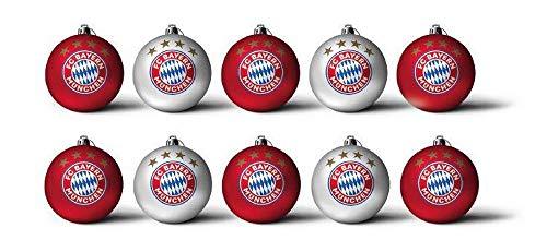 FC Bayern Christbaumkugeln 3cm 10er-Set