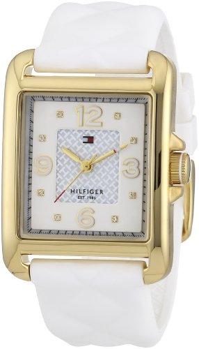 Tommy Hilfiger 1781246 - Reloj de Cuarzo para Mujer, Correa de Silicona Color Blanco