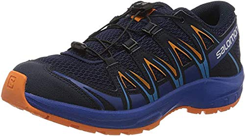 Salomon Kids' XA Pro 3D J Trail Running Shoes, Medieval Blue/Mazarine Blue/Tangelo, 5 Child US