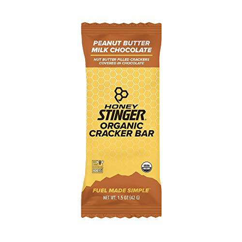 Honey Stinger Organic Cracker N' Nut Butter Snack Bars, Peanut Butter Milk Chocolate, 1.5 Ounce (12 Count)