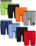 Black Bear Boys Performance Dry-Fit Compression Long Boxer Brief (8 Pack), Solids, Size Medium (8/10)'