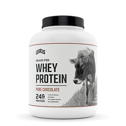 Levels Grass Fed 100% Whey Protein, No GMOs, Pure Chocolate, 5LB