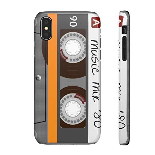 blitzversand 3D Handyhülle MC Kassette Casette kompatibel mit Apple iPhone 8 / 8s Musik Mix 80 er Glossy HD Glänzend Schutz Hülle Case Bumper Plastik M6