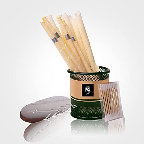 Candele per orecchie, candele auricolari in cera d'api, 100% naturale e biologico, coni di candela p