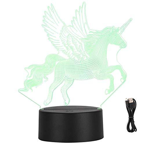 SALUTUYA Lámpara LED 3D, Decoración de Escritorio, Lámpara LED, 3D, para niñas para niños