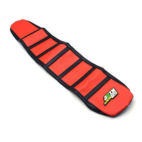 Gripper Soft Moto Housse de Selle Pour Honda CRF250R 14-16 CRF450R 13-16 Rouge / Noir