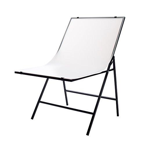 Fovitec Mesa de tiro portátil, blanco mate, acrílico fácil de limpiar, mesa de iluminación de estudio plegable para fotografía de productos de comercio electrónico y vida muerta