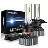 SEALIGHT Scoparc S1 H4/9003/HB2 LED Headlight Bulbs,High Beam Low Beam,6000K Bright White,Halog…