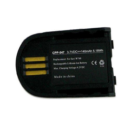 Plantronics W745 Cordless Phone Battery Li-Pol, 3.7 Volt, 140 mAh - Ultra Hi-Capacity - Replacement for Plantronics 82742-01 84598-01Rechargeable Battery