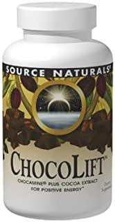 Source Naturals ChocoLift 500mg, Chocamine Cocoa Extract for Positive Energy, 120 Capsules