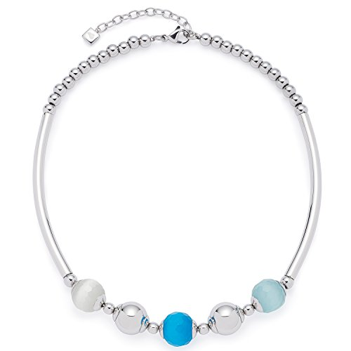 Leonardo Jewels Damen Collier Bolla Edelstahl Glas mehrfarbig 40 cm 016233