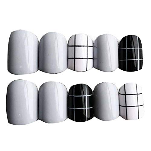 Ongles gris/noirs faux ongles artificiels ongles faux conseils décor