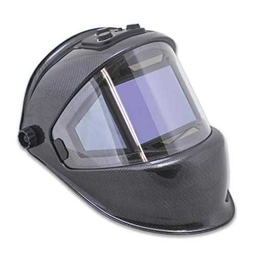 TGR Panoramic 180 View Solar Powered Welding Helmet - True Color (CARBON FIBER)