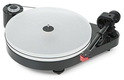 Pro-Ject RPM 5 Carbon, audiophiler Plattenspieler mit Riemenantrieb und Acrylplattenteller (inkl. Ortofon MC Quintet Red, Schwarz)