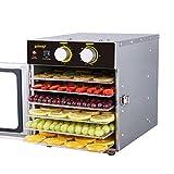 Disidratatore di verdure Essiccatore per alimenti, disidratatore intelligente di potenza da 500 W con tempera regolabile di temperatura con disinfezione UV e vassoio in acciaio inox a 6 strati per con