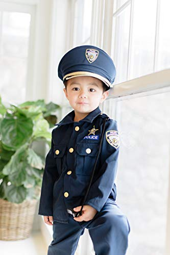 Dress Up America Police Costume For Boys - Shirt, Pants, Hat, Belt, Whistle, Gun Holster, and Walkie Talkie Cop Set (3-4 Years (Waist: 66-71 Height: 91-99 cm))